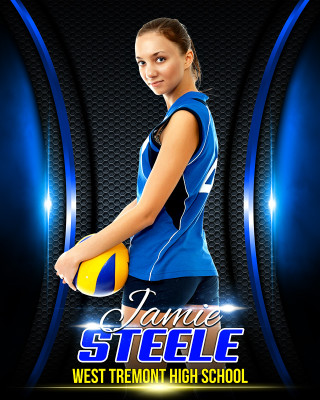 16x20 MULTI-SPORT POSTER - ARCHED - PHOTOSHOP LAYERED SPORTS TEMPLATE