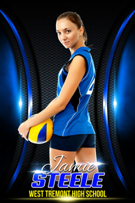 PLAYER BANNER PHOTO TEMPLATE - ARCHED - PHOTOSHOP LAYERED SPORTS TEMPLATE