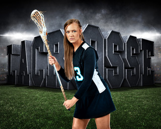 "16""x20"" SPORTS POSTER PHOTO TEMPLATE - HORIZONTAL - SURREAL LACROSSE"