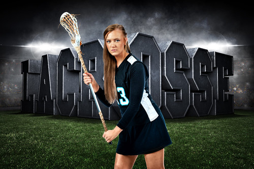 PLAYER & TEAM BANNER PHOTO TEMPLATE - HORIZONTAL - SURREAL LACROSSE