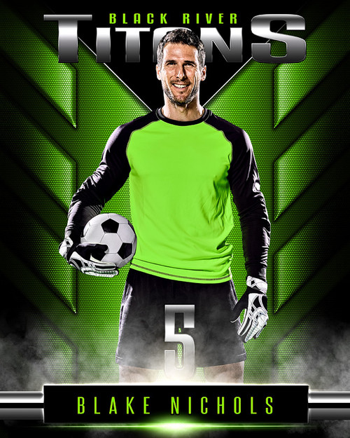 16x20 MULTI-SPORT POSTER - DOUBLE TAKE - PHOTOSHOP LAYERED SPORTS TEMPLATE