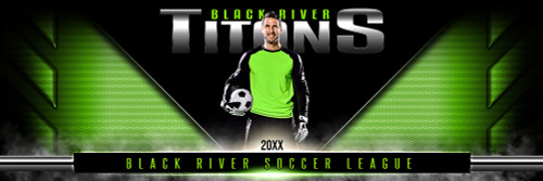 PANORAMIC SPORTS BANNER TEMPLATE - DOUBLE TAKE - PHOTOSHOP LAYERED SPORTS TEMPLATE