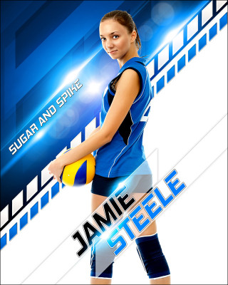 16x20 MULTI-SPORT POSTER - SLOPE - PHOTOSHOP LAYERED SPORTS TEMPLATE