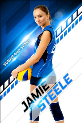 PLAYER BANNER PHOTO TEMPLATE - SLOPE - PHOTOSHOP LAYERED SPORTS TEMPLATE
