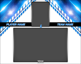 MEMORY MATE - HORIZONTAL - SLOPE - PHOTOSHOP LAYERED SPORTS TEMPLATE