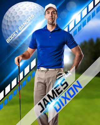 SPORTS POSTER PHOTO TEMPLATE - GOLF II