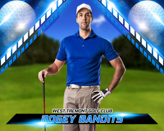 SPORTS POSTER PHOTO TEMPLATE - HORIZONTAL - GOLF II