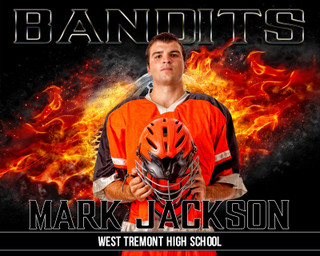 16x20 Lacrosse Photo Template - On Fire