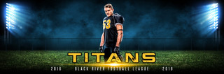 PANORAMIC SPORTS BANNER TEMPLATE - LIGHT TOWERS - PHOTOSHOP LAYERED SPORTS TEMPLATE