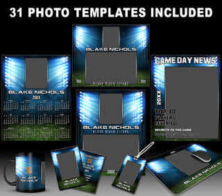 LIGHT TOWERS COLLECTION - PHOTOSHOP SPORTS TEMPLATE COLLECTION