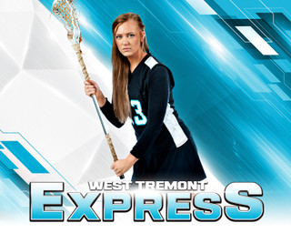 16x20 MULTI-SPORT POSTER - EXPRESS - CUSTOM PHOTOSHOP LAYERED SPORTS TEMPLATE