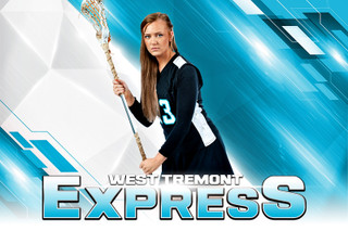 PLAYER & TEAM BANNER PHOTO TEMPLATE - EXPRESS - CUSTOM PHOTOSHOP LAYERED SPORTS TEMPLATE