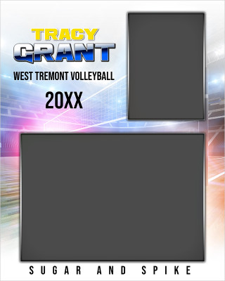 VOLLEYBALL MEMORY MATE - VERTICAL - HI KEY VOLLEYBALL - CUSTOM PHOTOSHOP LAYERED MEMORY MATE TEMPLATE