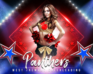 SPORTS POSTER PHOTO TEMPLATE - STARS AND GLITTER - CUSTOM PHOTOSHOP LAYERED SPORTS TEMPLATE