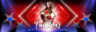 PANORAMIC SPORTS BANNER TEMPLATE - STARS AND GLITTER - CUSTOM LAYERED PHOTOSHOP SPORTS TEMPLATE