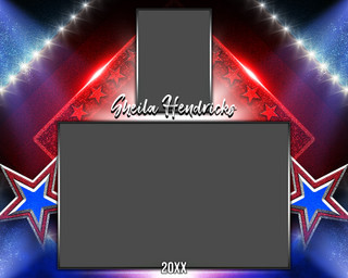 MEMORY MATE - HORIZONTAL - STARS AND GLITTER - CUSTOM PHOTOSHOP LAYERED MEMORY MATE TEMPLATE