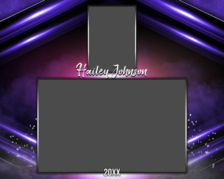 MEMORY MATE - HORIZONTAL - BREAK OUT - PHOTOSHOP LAYERED SPORTS TEMPLATE