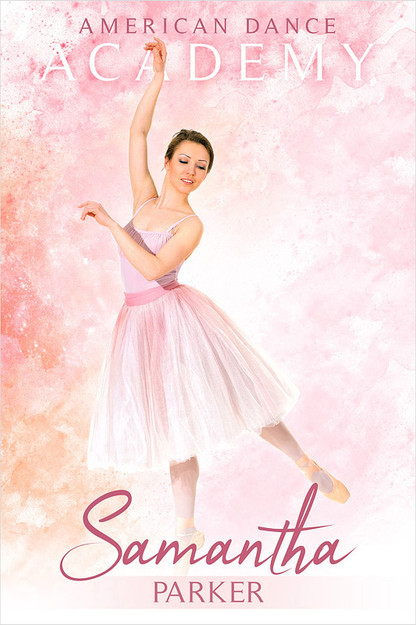 PLAYER BANNER PHOTO TEMPLATE - PASTELS  - CUSTOM PHOTOSHOP LAYERED SPORTS TEMPLATE FOR DANCE AND CHEERLEADING