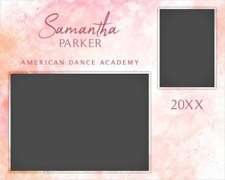 MEMORY MATE - HORIZONTAL - PASTELS - CUSTOM PHOTOSHOP LAYERED MEMORY MATE TEMPLATE FOR DANCE AND CHEERLEADING