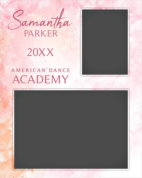 MEMORY MATE - VERTICAL - PASTELS - CUSTOM PHOTOSHOP LAYERED MEMORY MATE TEMPLATE FOR DANCE AND CHEERLEADING