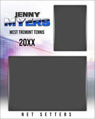 TENNIS MEMORY MATE - VERTICAL - HI KEY TENNIS - CUSTOM PHOTOSHOP LAYERED MEMORY MATE TEMPLATE