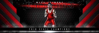PANORAMIC SPORTS BANNER TEMPLATE - ELITE - PHOTOSHOP LAYERED SPORTS TEMPLATE