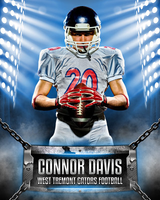 16x20 MULTI-SPORT POSTER - CHAINED - CUSTOM PHOTOSHOP LAYERED SPORTS TEMPLATE