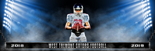 PANORAMIC SPORTS BANNER TEMPLATE - CHAINED - PHOTOSHOP LAYERED SPORTS TEMPLATE