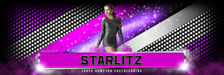 PANORAMIC SPORTS BANNER TEMPLATE - RHINESTONES - PHOTOSHOP LAYERED SPORTS TEMPLATE