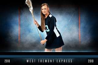 PLAYER & TEAM BANNER PHOTO TEMPLATE - FANTASY LACROSSE - PHOTOSHOP LAYERED SPORTS TEMPLATE