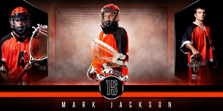 10X20 PHOTO TEMPLATE - FANTASY LACROSSE - PHOTOSHOP LAYERED SPORTS TEMPLATE