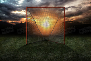 DIGITAL BACKGROUND - LACROSSE GOAL