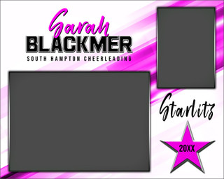 MEMORY MATE - HORIZONTAL - INCLINE - CUSTOM PHOTOSHOP LAYERED MEMORY MATE TEMPLATE FOR DANCE AND CHEERLEADING