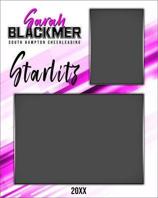 MEMORY MATE - VERTICAL - INCLINE - CUSTOM PHOTOSHOP LAYERED MEMORY MATE TEMPLATE FOR DANCE AND CHEERLEADING