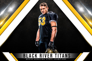 PLAYER & TEAM BANNER PHOTO TEMPLATE - SLANT - CUSTOM PHOTOSHOP LAYERED SPORTS TEMPLATE