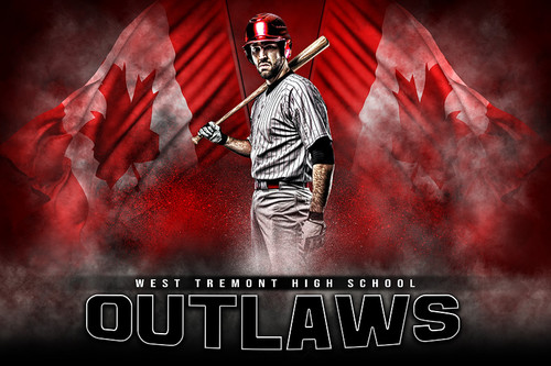 PLAYER & TEAM BANNER PHOTO TEMPLATE - CANADIAN PRIDE - CUSTOM PHOTOSHOP LAYERED SPORTS TEMPLATE