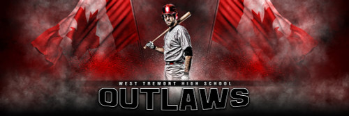 PANORAMIC SPORTS BANNER TEMPLATE - CANADIAN PRIDE - PHOTOSHOP LAYERED SPORTS TEMPLATE