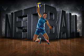 PLAYER BANNER PHOTO TEMPLATE - HORIZONTAL - SURREAL NETBALL
