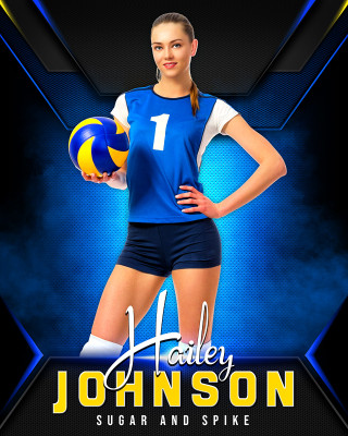 16x20 MULTI-SPORT POSTER - STANDOUT - CUSTOM PHOTOSHOP LAYERED SPORTS TEMPLATE