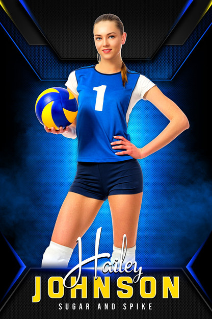 PLAYER BANNER PHOTO TEMPLATE - STANDOUT - CUSTOM PHOTOSHOP LAYERED SPORTS TEMPLATE