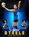 STANDOUT 16x20 PHOTO COLLAGE - CUSTOM LAYERED PHOTOSHOP SPORTS TEMPLATE