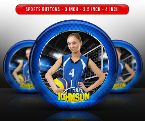 SPORTS PHOTO BUTTON TEMPLATES - STANDOUT