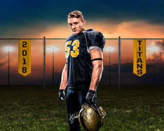 16x20 MULTI-SPORT POSTER - FIELD BANNERS - CUSTOM PHOTOSHOP LAYERED SPORTS TEMPLATE