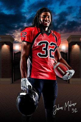 PLAYER BANNER PHOTO TEMPLATE - FIELD ENTRY II - CUSTOM PHOTOSHOP LAYERED SPORTS TEMPLATE
