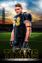 PLAYER BANNER PHOTO TEMPLATE - HOME FIELD - FOOTBALL - PHOTOSHOP LAYERED SPORTS TEMPLATE