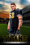 PLAYER BANNER PHOTO TEMPLATE - HOME FIELD - FOOTBALL II - PHOTOSHOP LAYERED SPORTS TEMPLATE