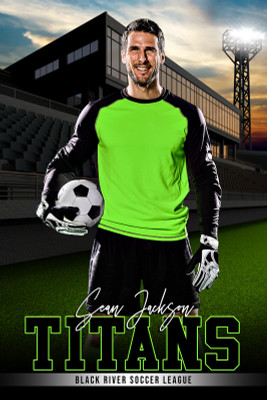 PLAYER BANNER PHOTO TEMPLATE - HOME FIELD - CUSTOM PHOTOSHOP LAYERED SPORTS TEMPLATE