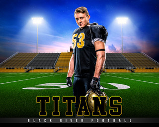 SPORTS POSTER PHOTO TEMPLATE - HOME TURF - FOOTBALL - CUSTOM PHOTOSHOP LAYERED SPORTS TEMPLATE