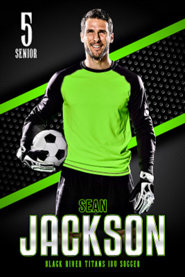 PLAYER BANNER PHOTO TEMPLATE - BOLD - CUSTOM PHOTOSHOP LAYERED SPORTS TEMPLATE