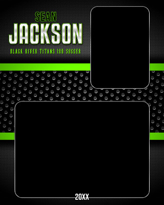 MEMORY MATE - VERTICAL - BOLD - CUSTOM PHOTOSHOP LAYERED MEMORY MATE TEMPLATE FOR MANY SPORTS